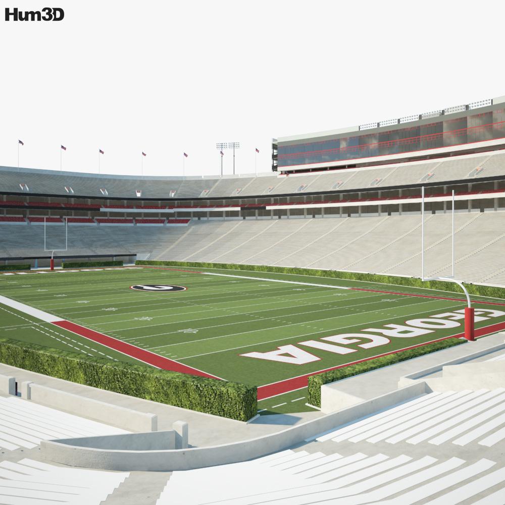 Sanford Stadium 3D model