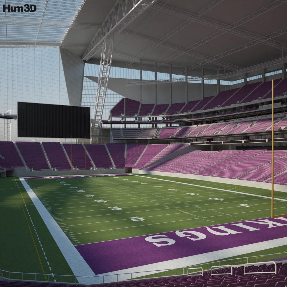 U.S. Bank Stadium 3D model