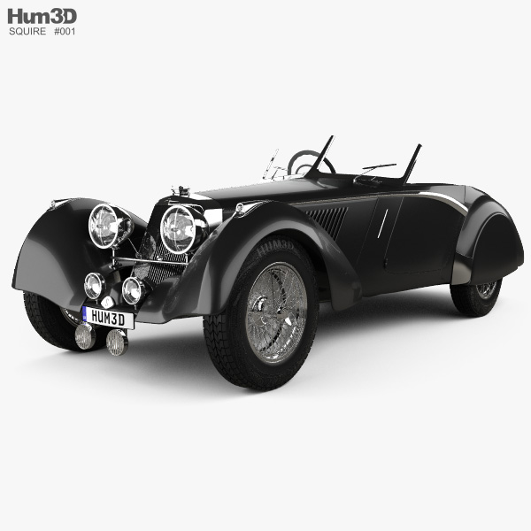 3D model of Squire Corsica Roadster 1936