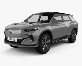 3D model of SsangYong e-SIV EV 2018