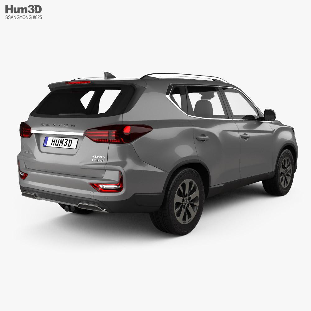 SsangYong Rexton 2021 3d model back view
