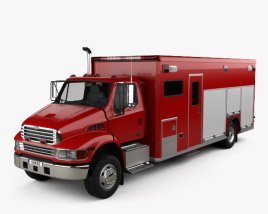 3D model of Sterling Acterra Fire Truck 2002