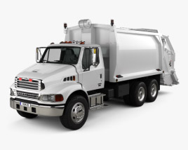 3D model of Sterling Acterra Garbage Truck 2002