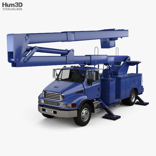 Sterling Acterra Lift Platform Truck 2002 3D model