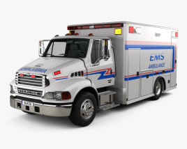 3D model of Sterling Acterra Ambulance Truck 2002