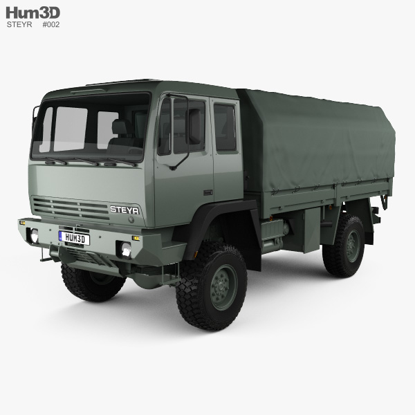 3D model of Steyr 12M18 General Utility Truck 1986