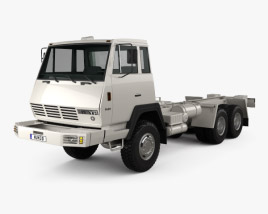 3D model of Steyr Plus 91 1491 Chassis Army Truck 1978
