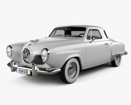3D model of Studebaker Commander Starlight Coupe 1951