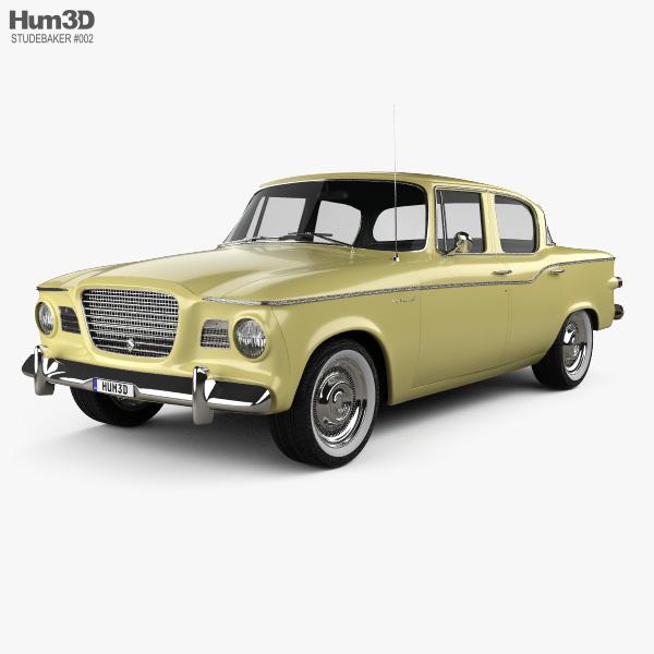 3D model of Studebaker Lark sedan 1960
