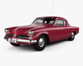 3D model of Studebaker Champion Starlight Coupe 1953