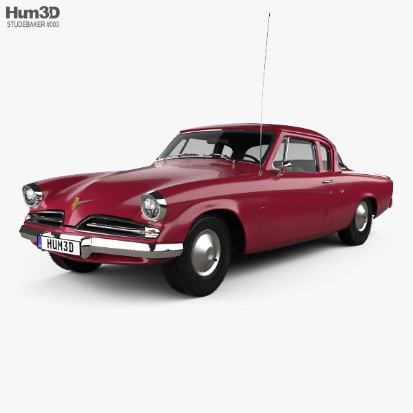 3D model of Studebaker Champion Starlight Coupe 1953
