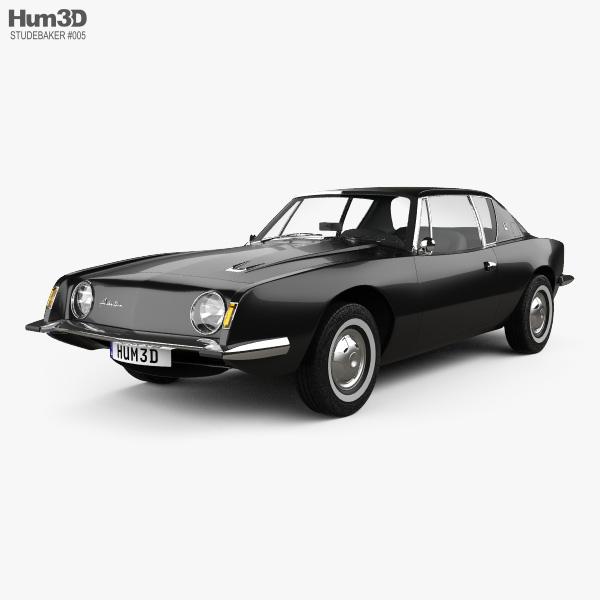 3D model of Studebaker Avanti 1963