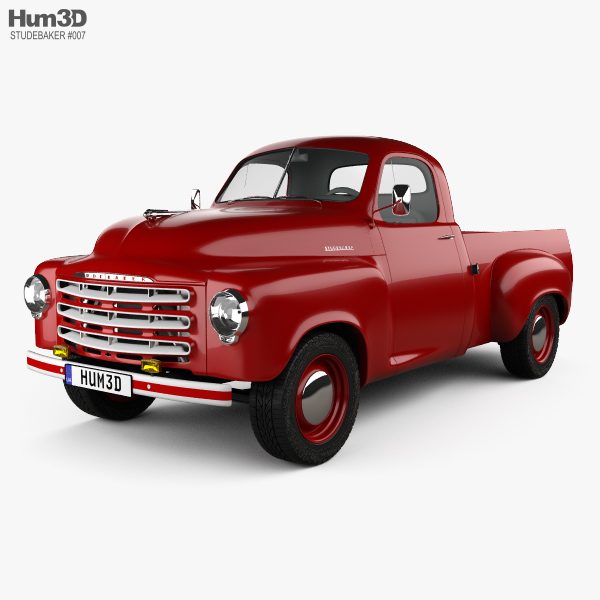 3D model of Studebaker Pickup 1950