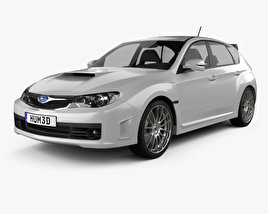 3D model of Subaru Impreza WRX STI 2010