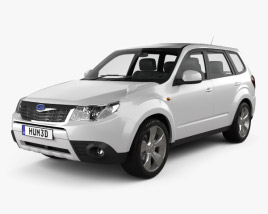 3D model of Subaru Forester 2008