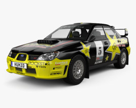 3D model of Subaru Impreza WRX STI 2006