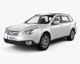 3D model of Subaru Outback 2010