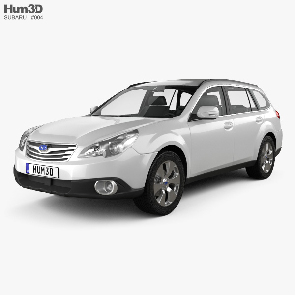 3D model of Subaru Outback 2010
