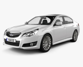 3D model of Subaru Legacy (Liberty) sedan 2010