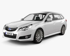 3D model of Subaru Legacy tourer 2010