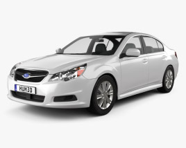 3D model of Subaru Legacy sedan US 2011