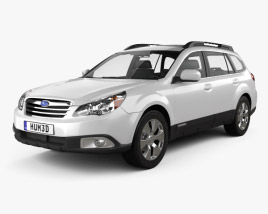 3D model of Subaru Outback US 2011