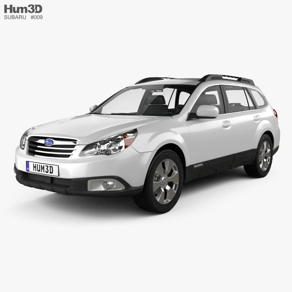 3D model of Subaru Outback US 2011
