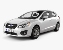 3D model of Subaru Impreza hatchback 2012