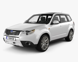 3D model of Subaru Forester Premium 2011