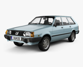 3D model of Subaru Leone estate 1978
