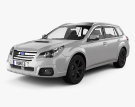 3D model of Subaru Outback SX 2012