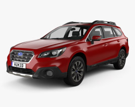 3D model of Subaru Outback 2015