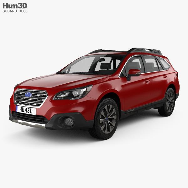 3D model of Subaru Outback 2015