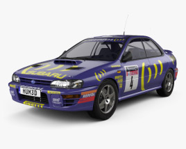 3D model of Subaru Impreza WRC (GC) 1993