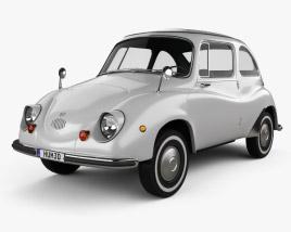 3D model of Subaru 360 1958