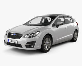 3D model of Subaru Impreza hatchback 2015