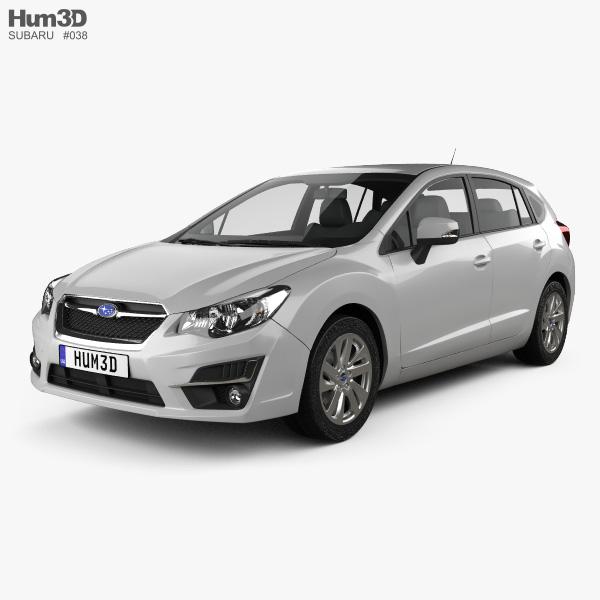 Subaru Impreza hatchback 2015 3D model