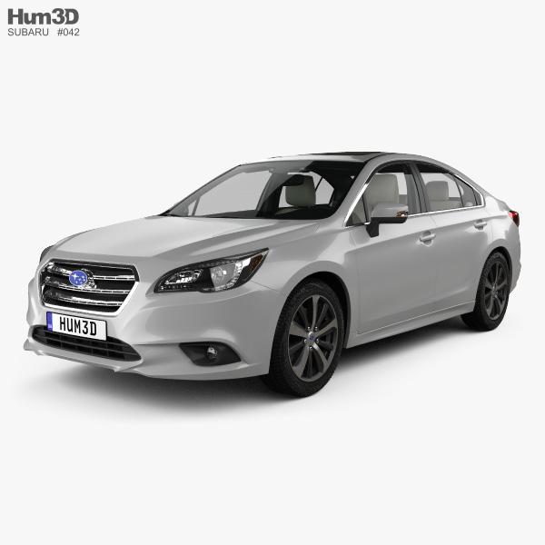 Subaru Legacy with HQ interior 2014 3D model