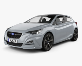 3D model of Subaru Impreza 5-door hatcback 2015