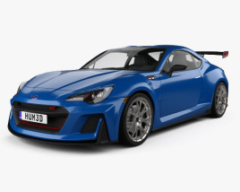 3D model of Subaru BRZ STI Performance concept 2015