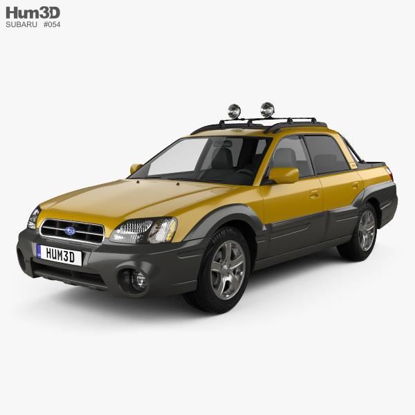 Subaru Baja 2002 3D model