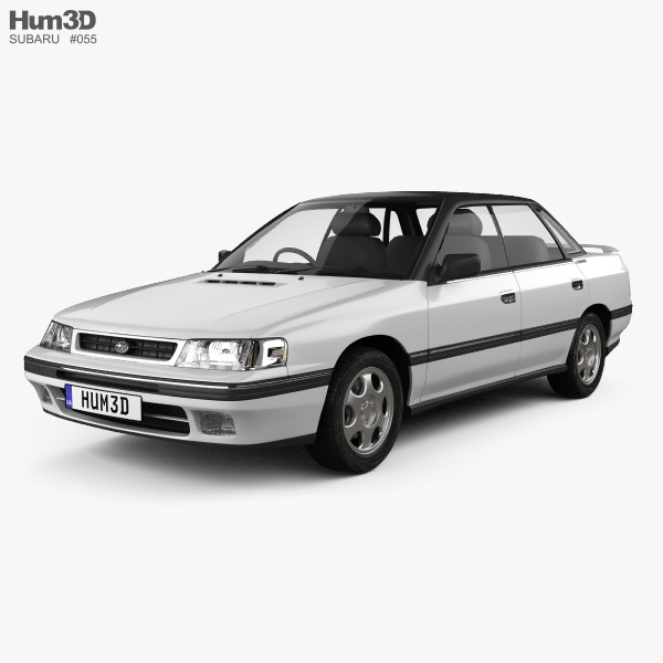 Subaru Legacy 1989 3D model