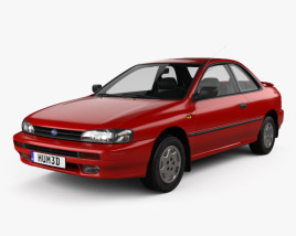 Subaru Impreza Coupe with HQ interior 1995 3D model