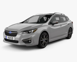 3D model of Subaru Impreza 5-door hatchback 2016