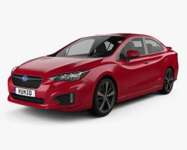 3D model of Subaru Impreza Sedan 2016