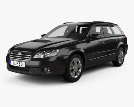 3D model of Subaru Outback 2008