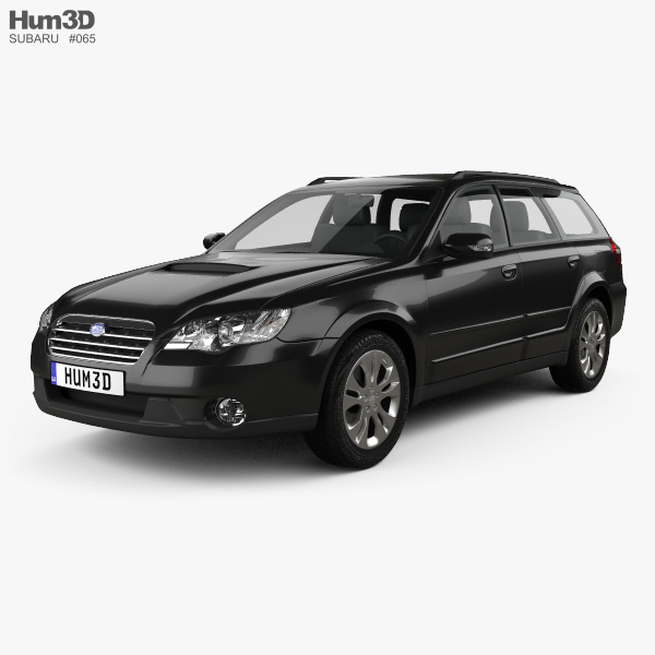 3D model of Subaru Outback 2008