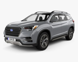 3D model of Subaru Ascent SUV 2017