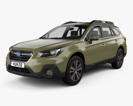 3D model of Subaru Outback US-spec 2017