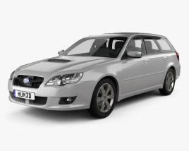 3D model of Subaru Legacy station wagon 2008